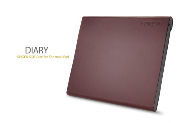Кожаный чехол SGP Leather Case Diary Series для Apple IPAD 3/2