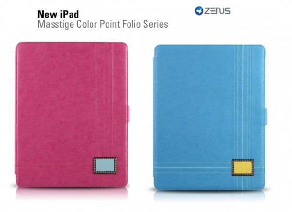 Купить Кожаный чехол Zenus Masstige Color Point Foilo Series для Apple IPAD 3/2 за 549 грн