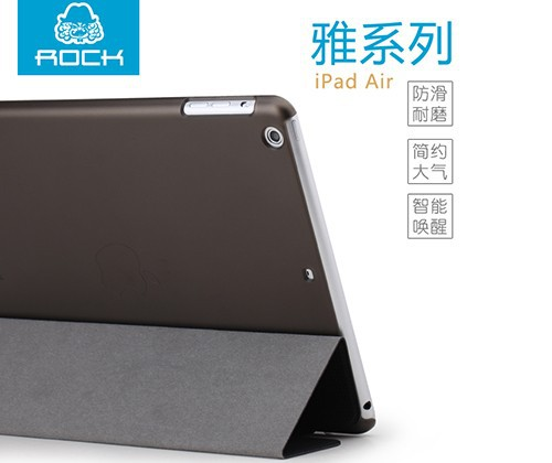 Фото Чехол (книжка) Rock Elegant Series для Apple IPAD AIR Черный / Black на itsell.ua