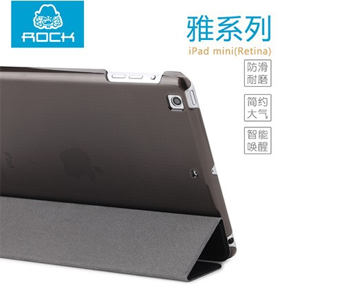 Фото Чехол (книжка) Rock Elegant Series для Apple IPAD mini (RETINA)/Apple IPAD mini 3 Черный / Black на itsell.ua