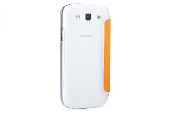 Чехол (книжка) Rock Elegant Series для Samsung i9300 Galaxy S3/S3 duos i9300i Оранжевый / Orange на itsell.ua