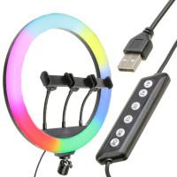 Кольцевая лампа RGB MJ36 36см (с держателем/без подставки)