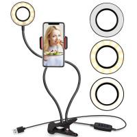 Кольцевая LED-лампа 2в1 с держателем для телефона