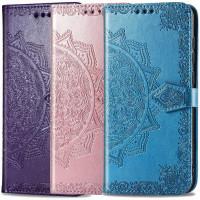 Кожаный чехол (книжка) Art Case с визитницей для Oppo A15