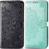 Кожаный чехол (книжка) Art Case с визитницей для Oppo A5s