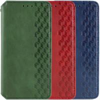 Кожаный чехол книжка GETMAN Cubic (PU) для Samsung Galaxy A03s