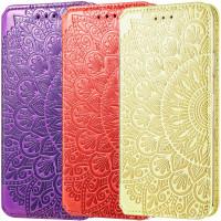 Кожаный чехол книжка GETMAN Mandala (PU) для Samsung Galaxy A02