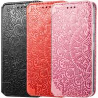 Кожаный чехол книжка GETMAN Mandala (PU) для Xiaomi Redmi Note 9 4G / Redmi 9 Power / Redmi 9T