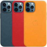 "Кожаный чехол Leather Case (AAA) with MagSafe and Animation для Apple iPhone 12 Pro / 12 (6.1"")"