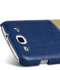 Кожаная накладка Melkco Mix and Match для Samsung i9300 Galaxy S3 Dark Blue / Khaki на itsell.ua