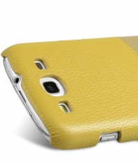 Кожаная накладка Melkco Mix and Match для Samsung i9300 Galaxy S3 Yellow LC/ Khaki LC на itsell.ua