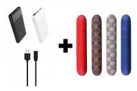 Кожаная накладка для IQOS 3 + Дата кабель Hoco X1 Rapid USB to MicroUSB (1m) + Портативное зарядное устройство PowerBank Hoco B35C Entrourage 12000 mAh