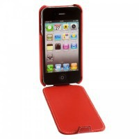 Фото Кожаный чехол Issentiel Prestige Ultra Slim Collection для Apple Iphone 4/4s красный на itsell.ua