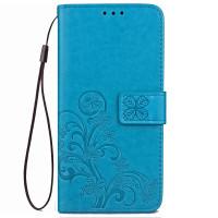 Кожаный чехол (книжка) Four-leaf Clover с визитницей для Meizu M5 Note