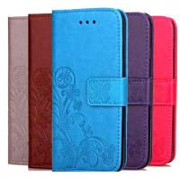 Кожаный чехол (книжка) Four-leaf Clover с визитницей для Xiaomi Mi 6