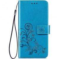Кожаный чехол (книжка) Four-leaf Clover с визитницей для Xiaomi Redmi 7 / Y3
