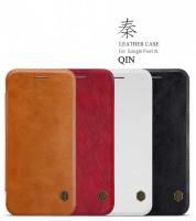 Купить Кожаный чехол (книжка) Nillkin Qin Series для Google Pixel XL