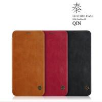Кожаный чехол (книжка) Nillkin Qin Series для OnePlus 5T