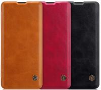 Кожаный чехол (книжка) Nillkin Qin Series для Samsung Galaxy A20 (A205F)
