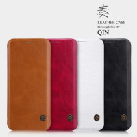 Кожаный чехол (книжка) Nillkin Qin Series для Samsung G955 Galaxy S8 Plus
