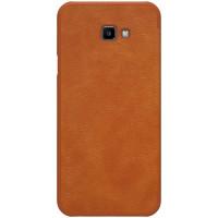 Кожаный чехол (книжка) Nillkin Qin Series для Samsung Galaxy J4+ (2018)