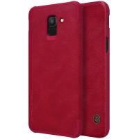 Кожаный чехол (книжка) Nillkin Qin Series для Samsung J600F Galaxy J6 (2018)
