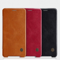 Купить Кожаный чехол (книжка) Nillkin Qin Series для Sony Xperia XZ2 Compact