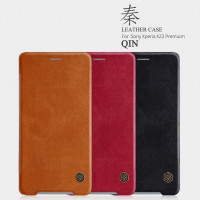 Купить Кожаный чехол (книжка) Nillkin Qin Series для Sony Xperia XZ2 Premium