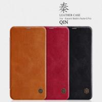 Кожаный чехол (книжка) Nillkin Qin Series для Xiaomi Redmi Note 6 Pro