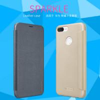 Кожаный чехол (книжка) Nillkin Sparkle Series для Huawei Honor 9 Lite