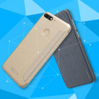 Кожаный чехол (книжка) Nillkin Sparkle Series для Huawei Y7 Prime (2018) / Honor 7C pro