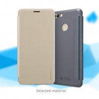 Кожаный чехол (книжка) Nillkin Sparkle Series для Huawei Enjoy 8 Plus
