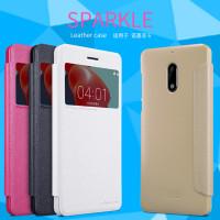 Кожаный чехол (книжка) Nillkin Sparkle Series для Nokia 6