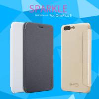 Кожаный чехол (книжка) Nillkin Sparkle Series для OnePlus 5