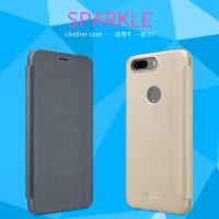 Кожаный чехол (книжка) Nillkin Sparkle Series для OnePlus 5T