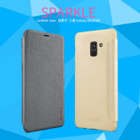 Шкіряний чохол (книжка) Nillkin Sparkle Series для Samsung Galaxy A8 (2018) (A530)