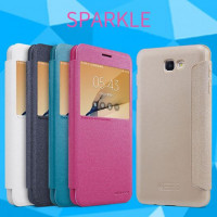 Кожаный чехол (книжка) Nillkin Sparkle Series для Samsung G570F Galaxy J5 Prime (2016)