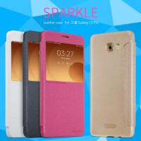 Кожаный чехол (книжка) Nillkin Sparkle Series для Samsung Galaxy C9 Pro