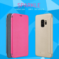 Кожаный чехол (книжка) Nillkin Sparkle Series для Samsung Galaxy S9