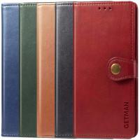 Кожаный чехол книжка GETMAN Gallant (PU) для Xiaomi Redmi Note 9 Pro