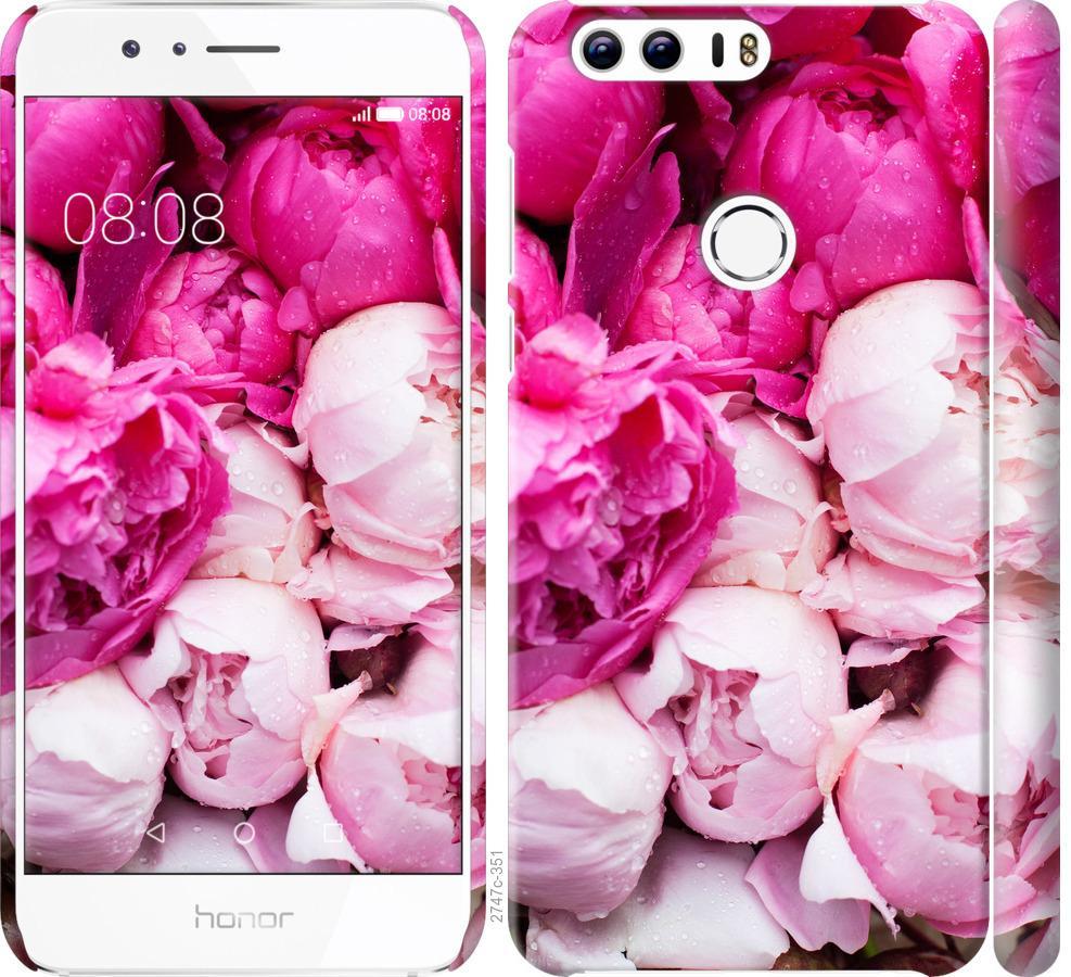 Чехол на Huawei Honor 8 Розовые пионы