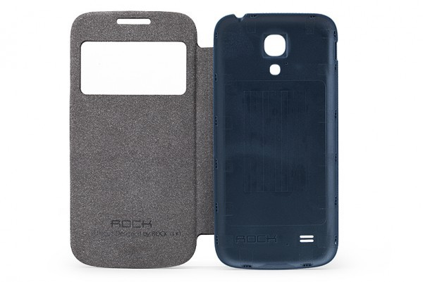 Купить Крышка-книжка Rock Magic Window Series для Samsung i9192/i9190/i9195 Galaxy S4 mini Синий / Dark Blue на itsell.ua