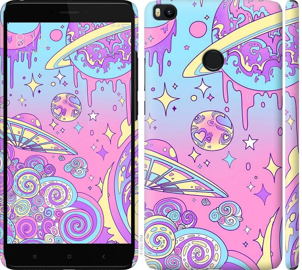 Чехол на Xiaomi Mi Max 2 Розовая галактика
