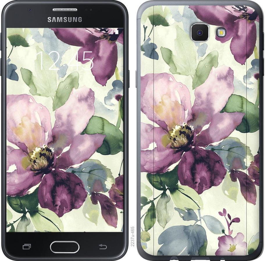 Чехол на Samsung Galaxy J5 Prime Цветы акварелью