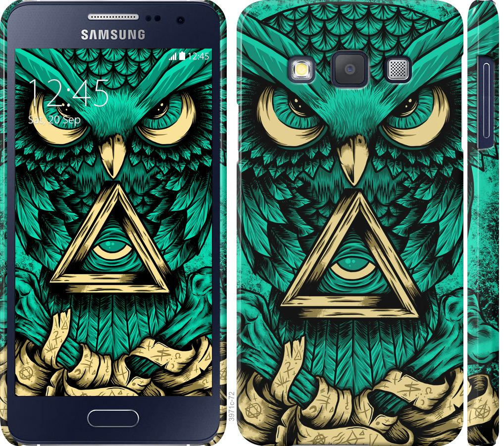 Чехол на Samsung Galaxy A3 A300H Сова Арт-тату
