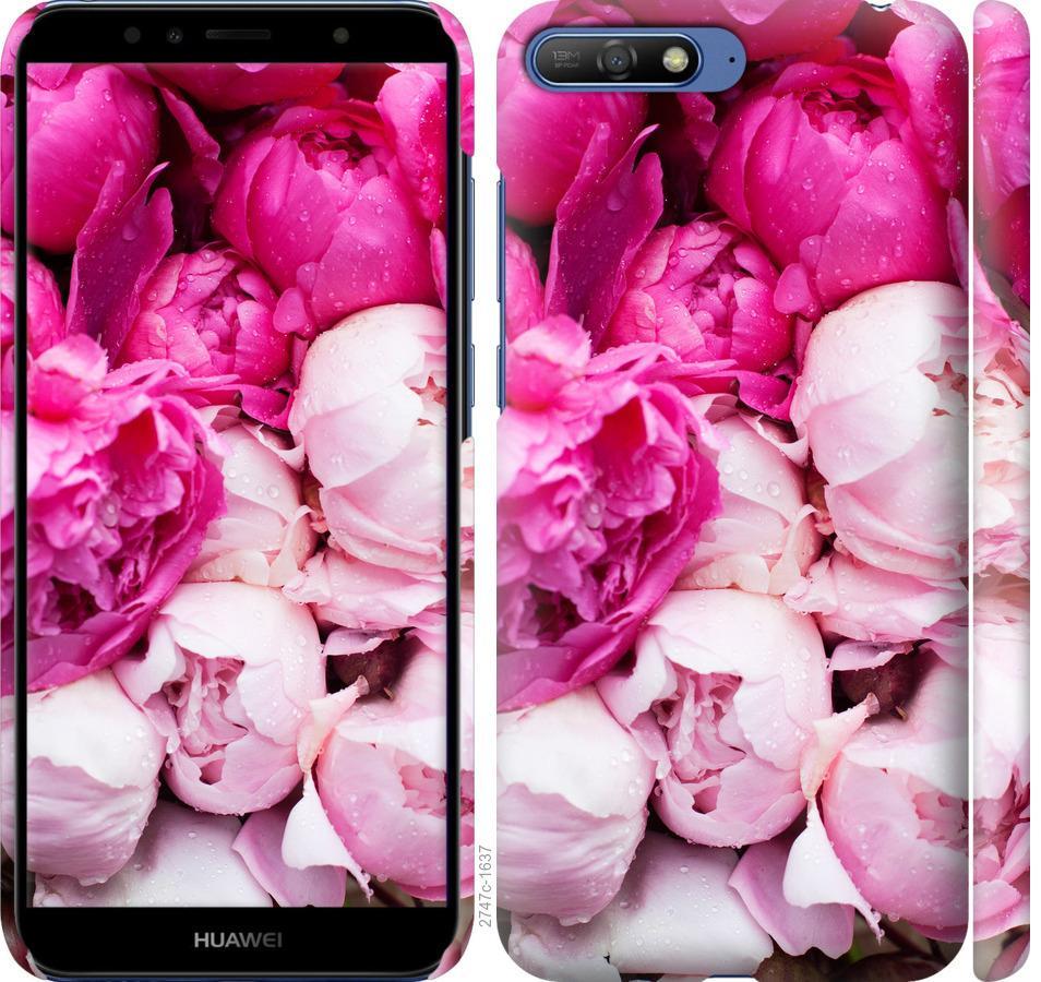 Чехол на Huawei Y6 2018 Розовые пионы