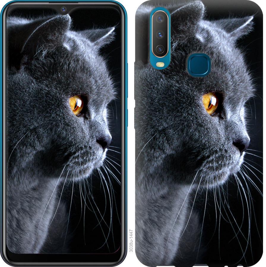 Чехол на Vivo Y15 Красивый кот