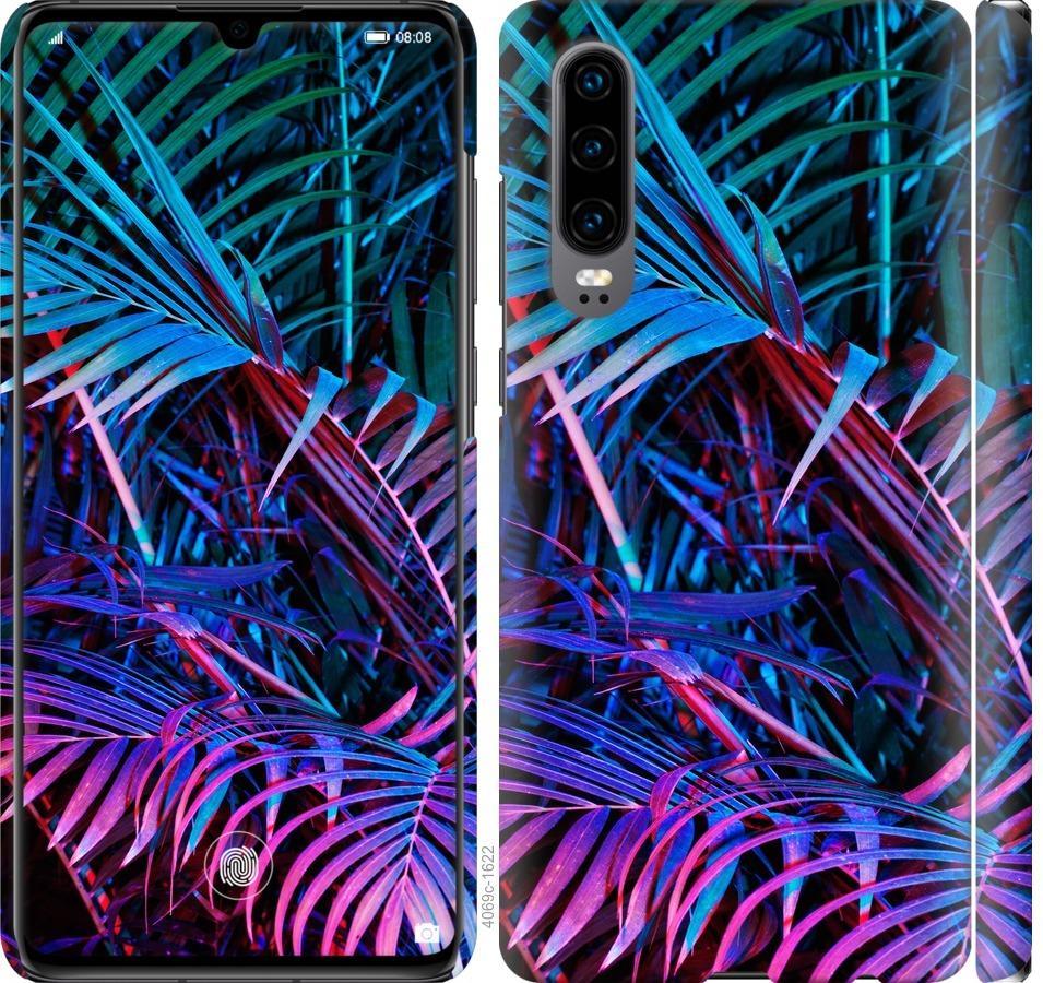 Чехол на Huawei P30 Папоротник под ультрафиолетом