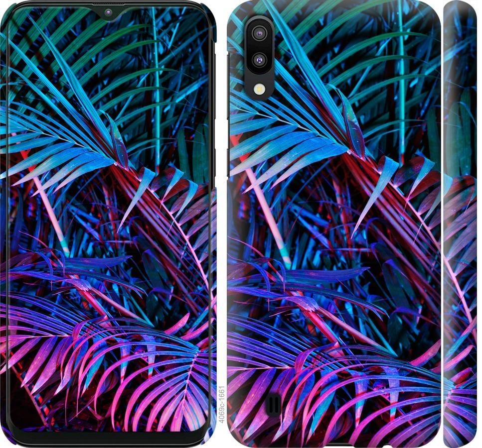 Чехол на Samsung Galaxy M10 Папоротник под ультрафиолетом