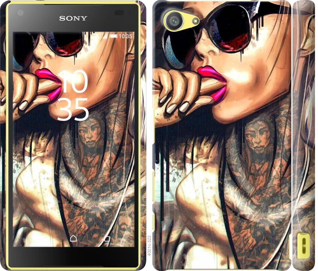Чехол на Sony Xperia Z5 Compact E5823 Девушка в тату